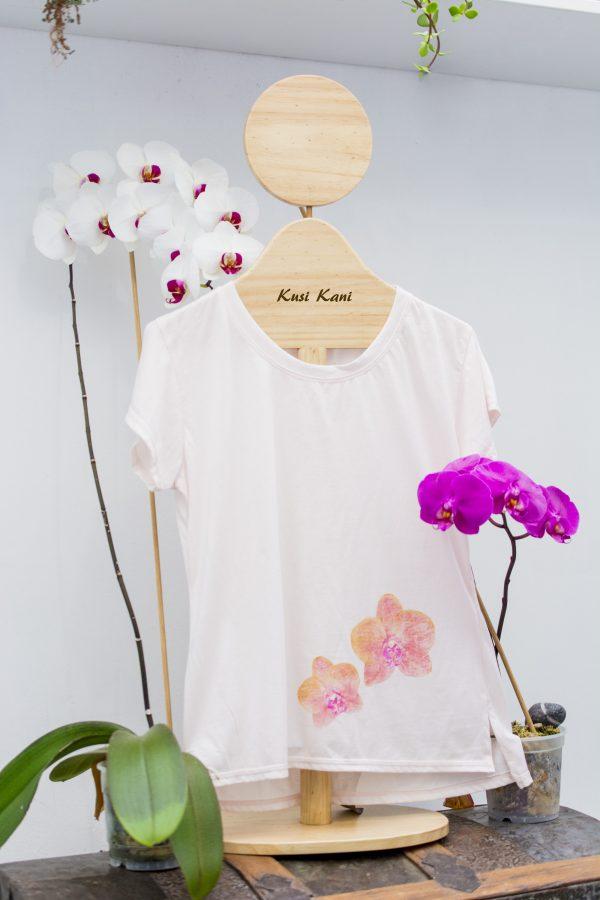 polo orquídeas rosa - tienda de ropa sustentable para mujeres