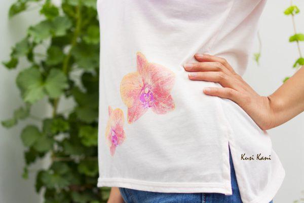 polo orquídeas rosa - tienda de ropa ecológica para mujeres